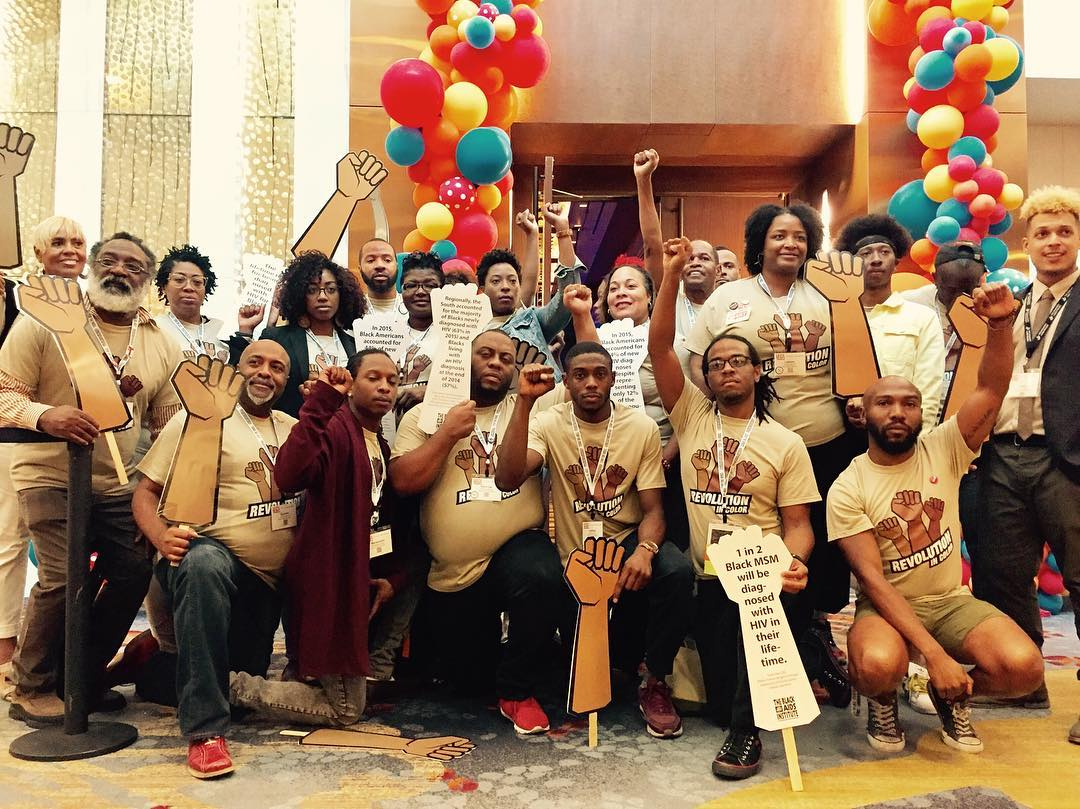 Group Photo of Black AIDS Institute staff at USCA 2017