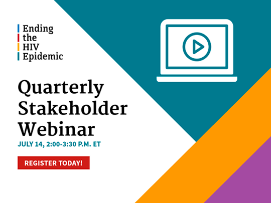 Quarterly Stakeholder Webinar. July 14th. 2:00 to 3:30 PM.