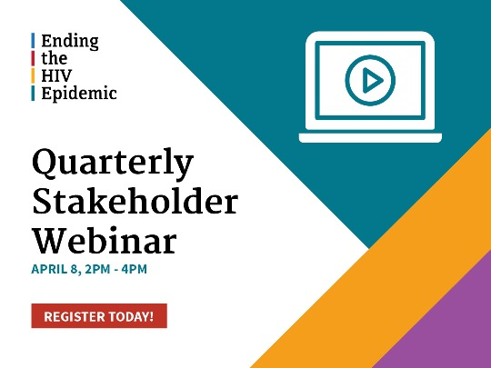 Quarterly Stakeholder Webinar. April 8, 2-4 PM