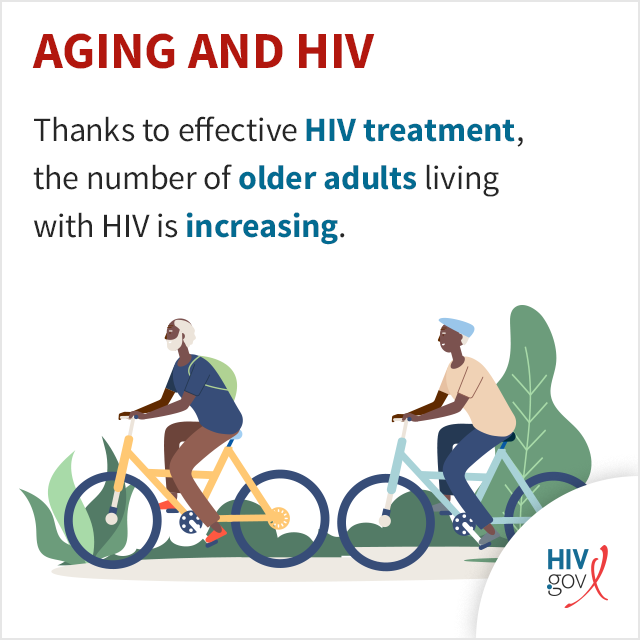 Thanks to effective HIV treatment, the number of older adults living with HIV is increasing.