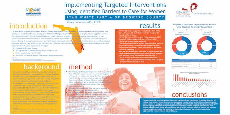Poster: Implementing Targeted Interventions Using Identified Barriers to Care for Women