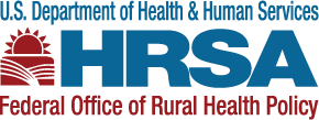 HRSA logo. U.S. Department of Health and Human Services. HRSA Federal Office of Rural Health Policy.