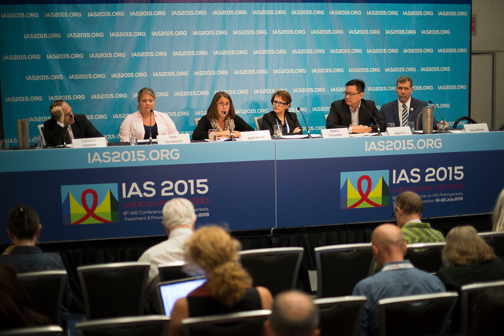 """""""8th IAS Conference on HIV Pathogenesis, Treatment and Prevention (IAS 2015). Vancouver, Canada. Copyright: Marcus Rose/IAS Image Shows: Official IAS 2015 Press Conference. PrEP Implementation."""""""