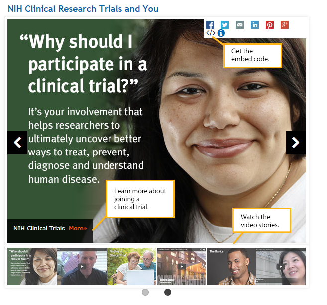 NIH clinical trials media player