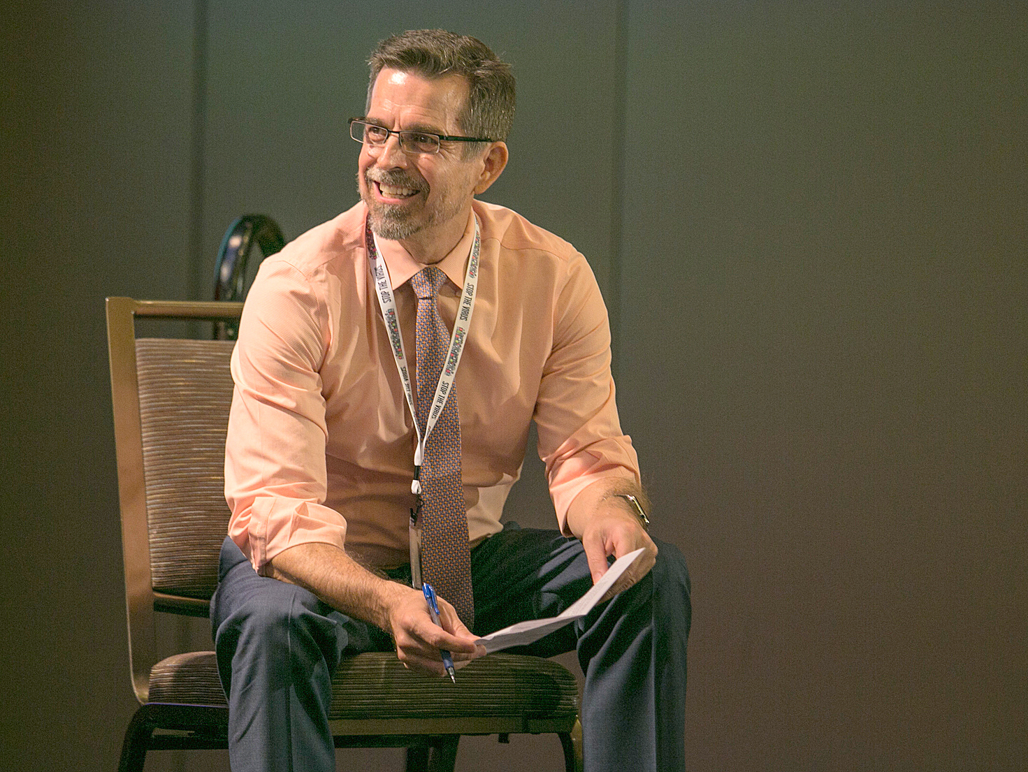Rich Wolitski - USCA2016 - smiling on stage - resized and brightened - sep 2016