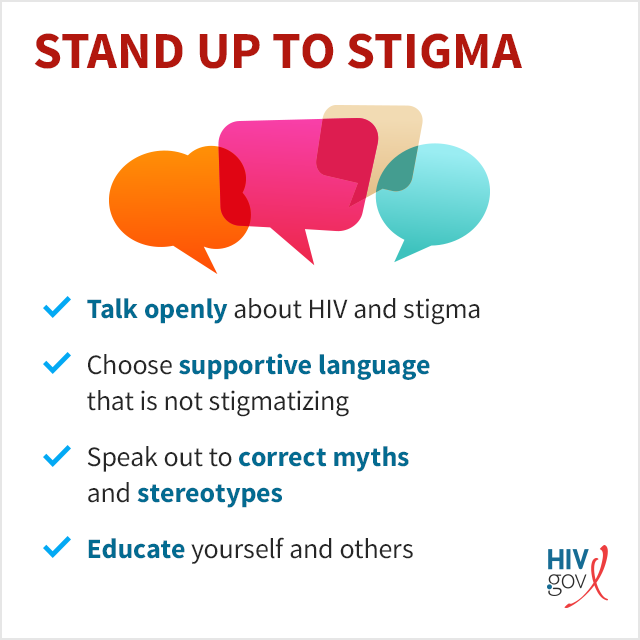 Fight HIV stigma: educate yourself, talk openly, use supportive language, correct myths.