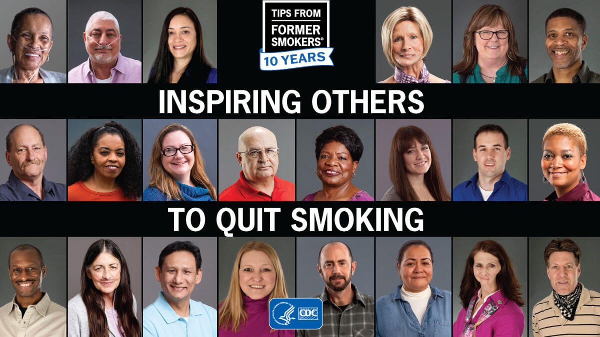 Tips from former smokers. Inspiring others to quit smoking.