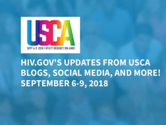 Logo of USCA 2018. HIV.gov's updates from USCA - Blogs, social media, and more! September 6-9, 2018