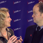 Ambassador Birx with Miguel Gomez at AIDS 2014