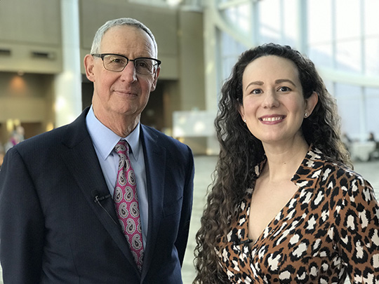 Photo of Dr. Dieffenbach and his colleague Anne Rancourt