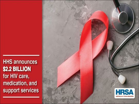 HHS announces $2.2 Billion for HIV care, medication, and support services