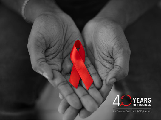 40 years of progress. It's time to end the HIV epidemic.
