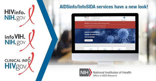 AIDSInfo/InfoSIDA services have a new look!