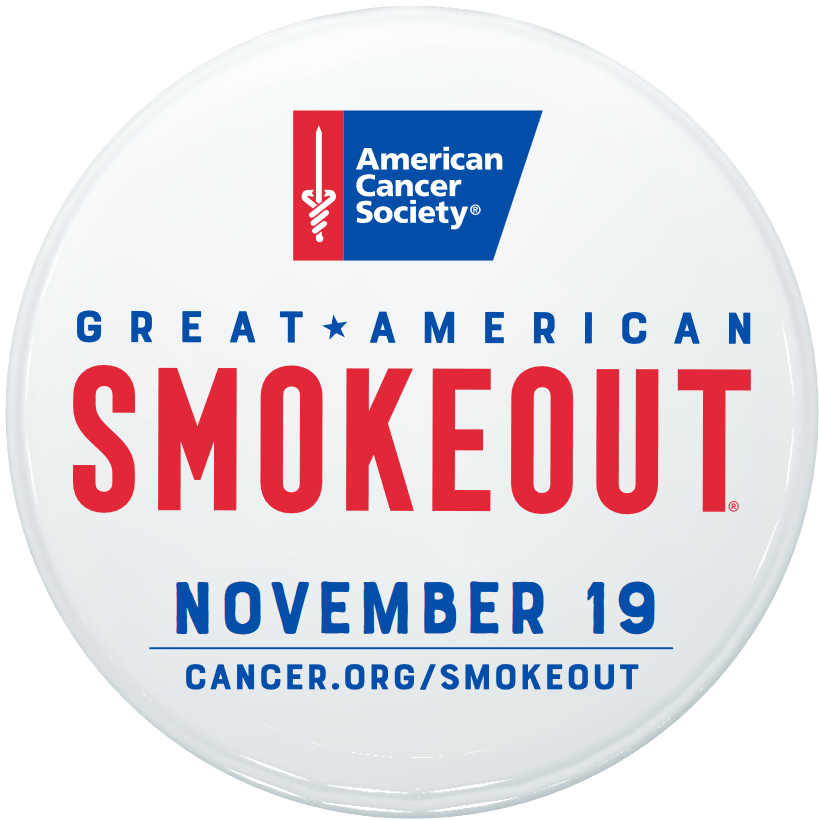 The Great American Smokeout button