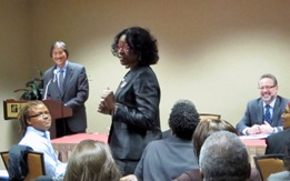 Dr. Marjorie Hill, CEO of Gay Men's Health Crisis (GMHC) at HHS Community Meeting