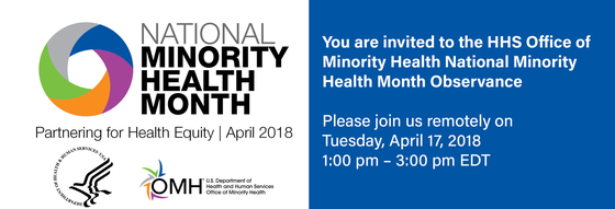National Minority Health Month Invitation