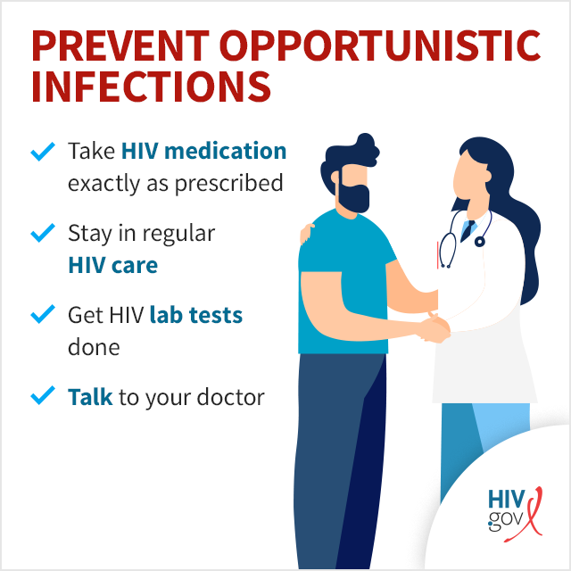 Prevent Opportunistic Infections infographic