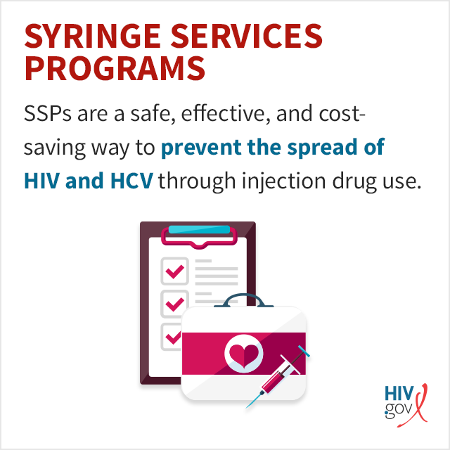 SSPs are a safe, effective, and cost-saving way to prevent the spread of HIV and HCV through injection drug use.