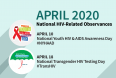 April 2020 National HIV- Related Health Observances