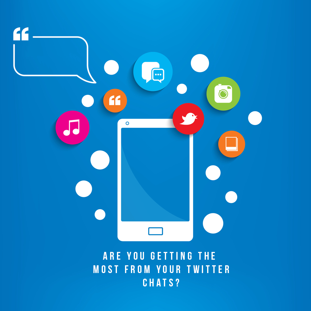 """Graphic featuring a tablet and the text: """"Are you getting the most from your twitter chats?"""""""