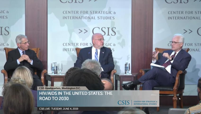 Dr. Fauci and Dr. Redfield discuss HIV in the United States: The Road to 2030 on June 4, 2019 at CSIS