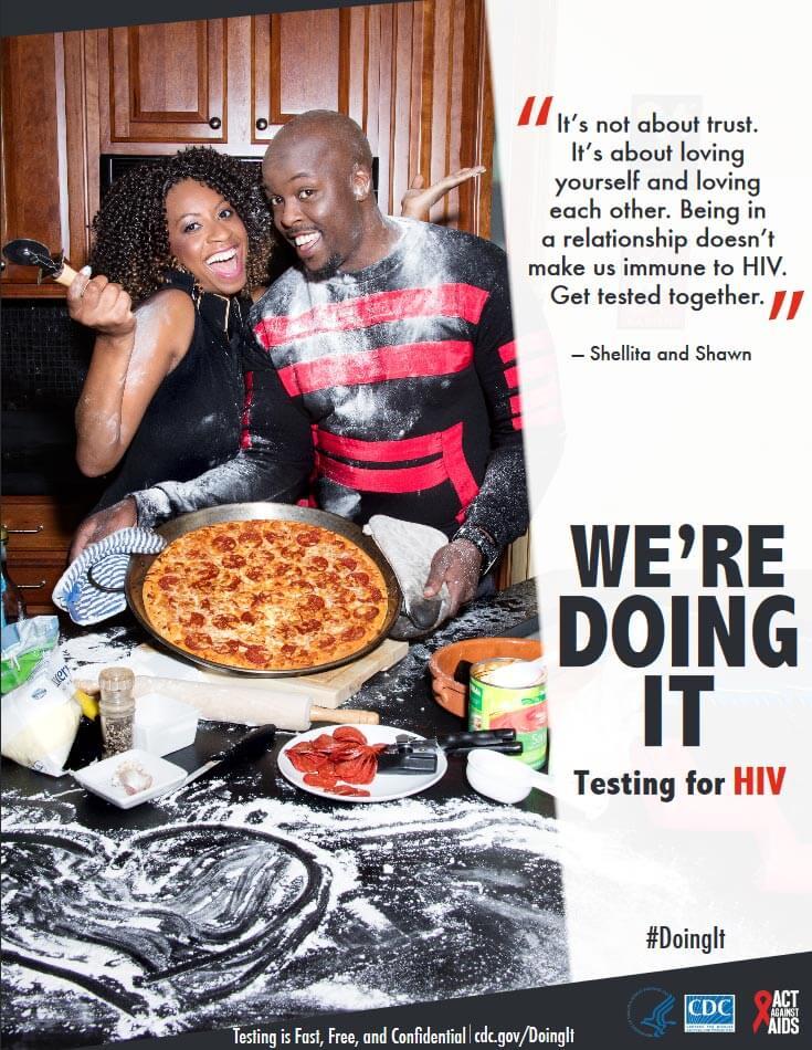 We're Doing It. Testing for HIV.