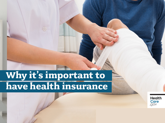 Photo of a nurse taping someone's knee. Why it's important to have health insurance.
